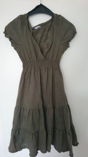Pimkie Vestido bustier gris verdoso Algodón