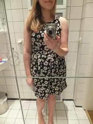 Pimkie Kleid 38 M geblümt Muster tailliert glockig