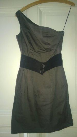 Pimkie Kleid einseitiger Träger breiter Gürtel khaki
