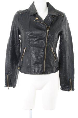 Pimkie Veste en cuir synthétique noir style décontracté