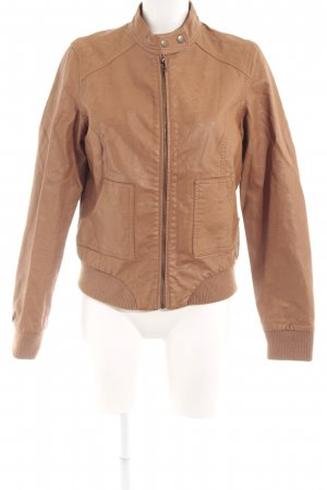 Pimkie Faux Leather Jacket cognac-coloured casual look