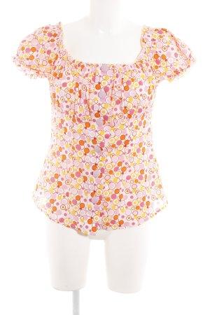 Pimkie Kurzarm-Bluse mehrfarbig extravaganter Stil