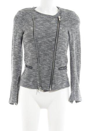 Pimkie Kurzjacke grau-weiß meliert Casual-Look