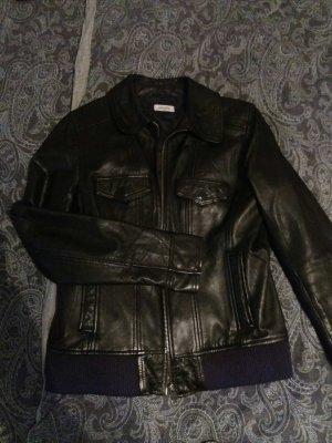 Pimkie Leder Jacke in Schwarz große S