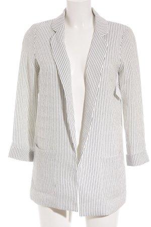 Pimkie Long-Blazer weiß-dunkelblau Streifenmuster Casual-Look