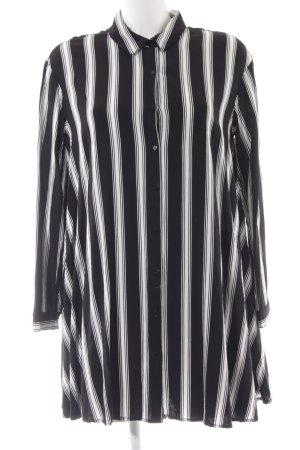 Pimkie Long-Bluse schwarz-weiß Streifenmuster Casual-Look