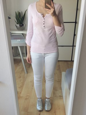 PIMKIE Longsleeve Basic Shirt Langarm rosa Knopfleiste Größe S