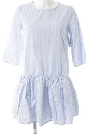 Pimkie Minikleid hellblau-weiß Streifenmuster Casual-Look