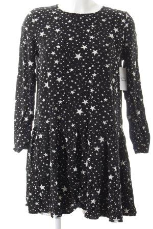 Pimkie Minikleid schwarz-weiß Sternenmuster Casual-Look