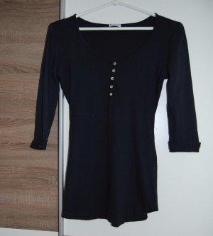 pimkie, Navy Damen 3/4 Arm T-shirt, Baumwolle Bluse, Größe: L