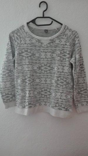 Pimkie Pullover Frottee Frotteepullover Sweatshirt S 36 Muster