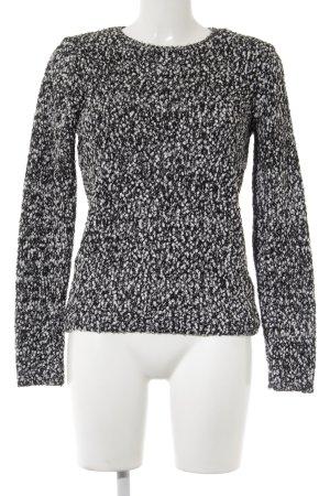 Pimkie Rundhalspullover schwarz-weiß Casual-Look