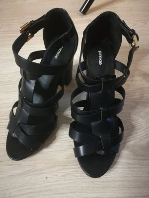 Pimkie High-Heeled Sandals black imitation leather