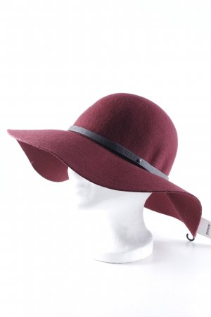 Pimkie Cappello a falde larghe bordeaux stile casual