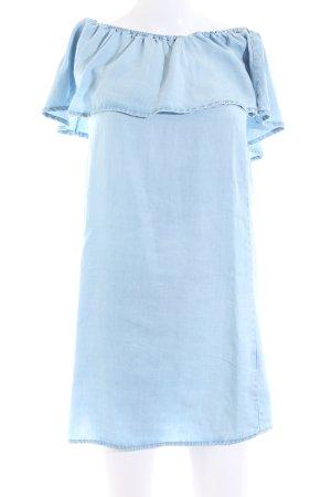 Pimkie Vestido strapless azul look casual
