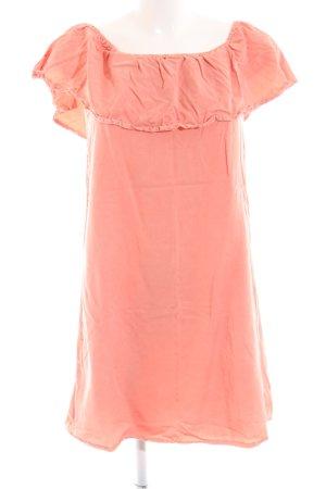 Pimkie schulterfreies Kleid pink Casual-Look