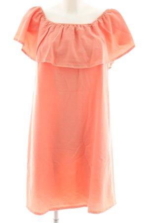 Pimkie schulterfreies Kleid hellorange Casual-Look