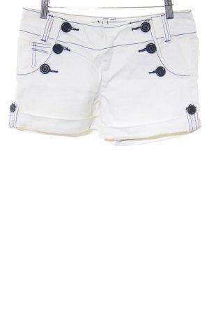 Pimkie Shorts creme-dunkelblau 50ies-Stil