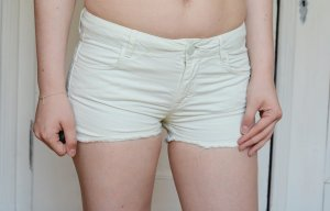 Pimkie Shorts Hotpants Mint Jeansshorts Fransen used destressed 36 S