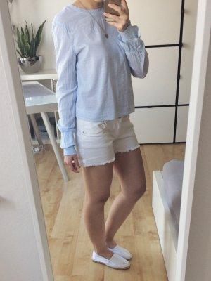Pimkie Shorts Jeans Hotpants creme beige Fransen
