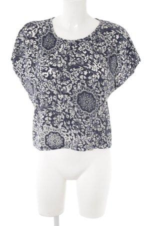 Pimkie T-Shirt graublau-blassblau florales Muster schlichter Stil