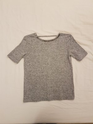 Pimkie Knitted Top silver-colored cotton