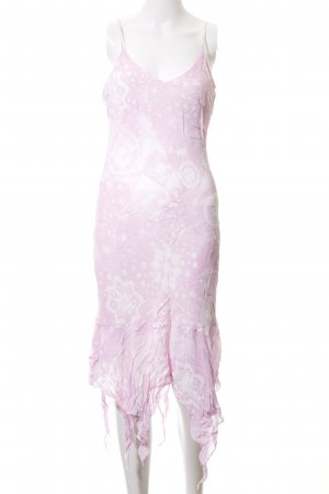 Pimkie Trägerkleid pink-weiß grafisches Muster Casual-Look