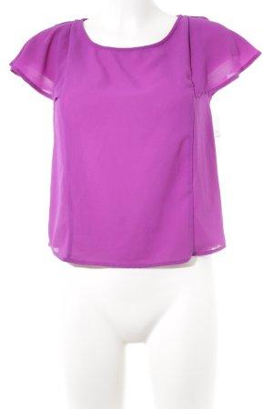 Pimkie Transparenz-Bluse lila Casual-Look