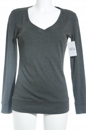 Pimkie V-Ausschnitt-Pullover grau Casual-Look