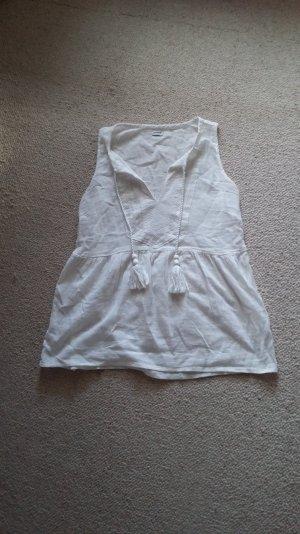 Pimkie: weißes leichtes Hippie Ethno Hemdchen super süß