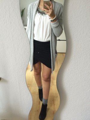 Pimkie Wickelrock Blogger Rock Wickeloptik Bodycon Skirt grau