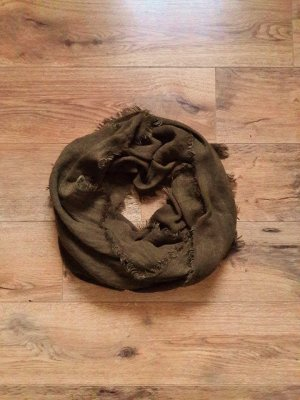 Pimkie XL Schal khaki dunkelgrün