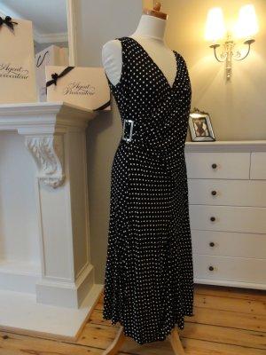 Maxi abito nero-bianco Poliammide