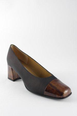Pindiere Loafers zwart-bruin leren uitstraling