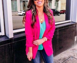 Pink Basic Blazer