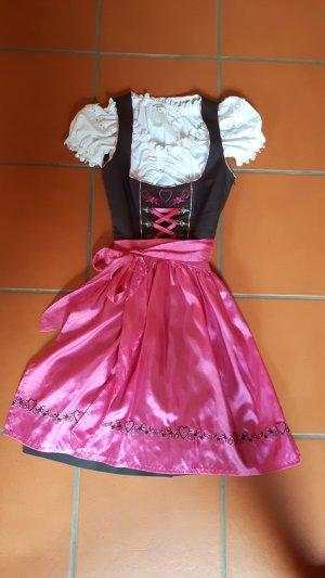 pink/braunes Dirndl