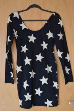 PINK by Victorias Secret Kleid / Long-Pullover Gr. M, schwarz/weiß, neu