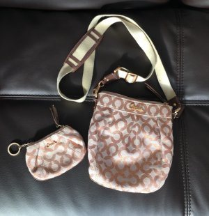 Pink Coach Cross-Body and Wallet