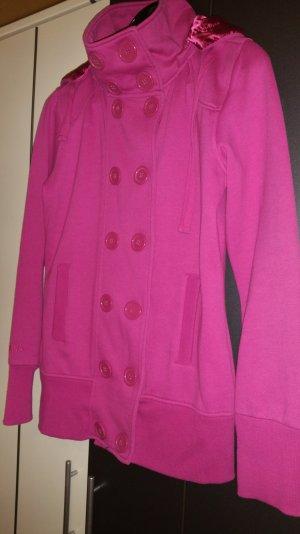 Pink farbenfrohe Jacke mit großen Knöpfen