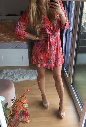 Pink gemustertes Kleid Zara M