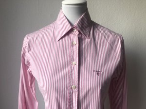 Gant Long Sleeve Blouse pink-white cotton