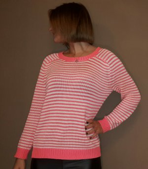 Pink gestreifter Pullover