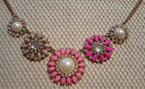 Pink-graues Hallhuber Collier