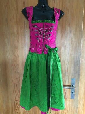 pink/grünes Wiesn-Drindl in Größe 38