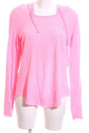 Pink Jersey con capucha rosa moteado look casual
