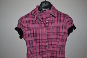 Pink karierte Bluse von Denny Rose Gr. S