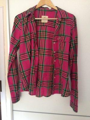 Pink karierte Hollister-Bluse, wie neu!