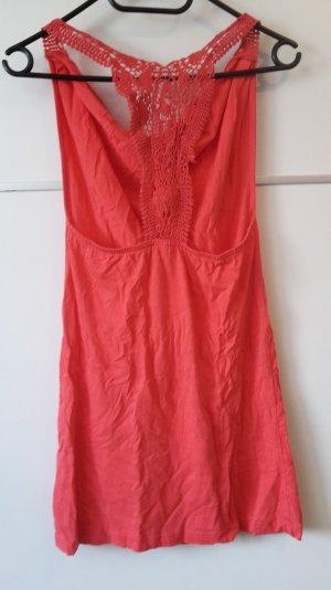pink Kleid Longshirt Maui Wowie Wasserfallausschnitt