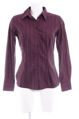 Pink Langarmhemd Streifenmuster Casual-Look