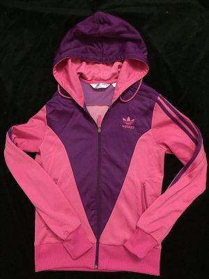 Pink-Lila Kapuzen Adidas Jacke